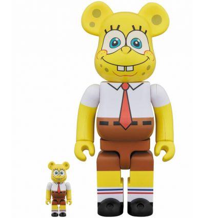 Sculpture bearbrick 400% & 100% set - Spongebob Squarepants