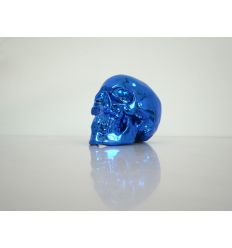 Skull Blue Chrome Porcelain by NooN