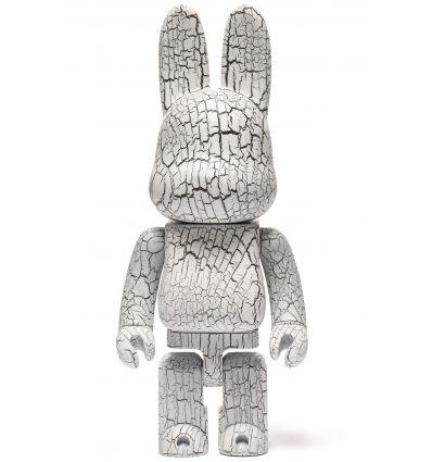 Sculpture bearbrick 400% Karimoku Rabbrick - White Birch