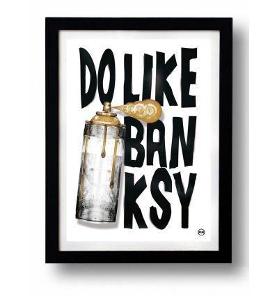 Affiche BANKSY GOLD par Rubiant