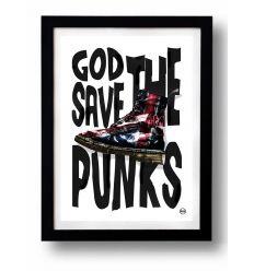 Affiche GOD SAVE THE PUNKS par Rubiant