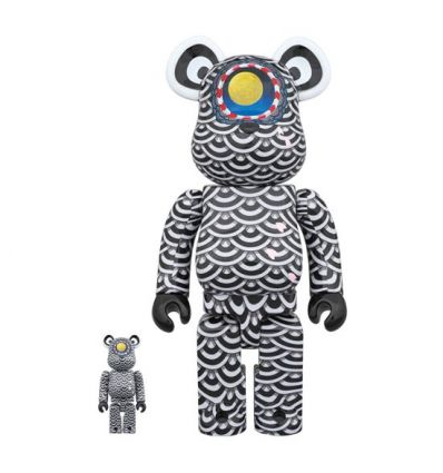 Sculpture bearbrick 400% & 100% Bearbrick set by Ground Y x Yasuto Sasada
