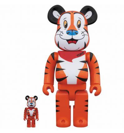 Sculpture 400% & 100% Bearbrick set - Tony the Tiger