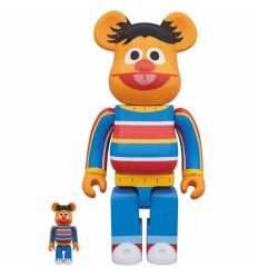 Sculpture 400% & 100% Bearbrick set - 400% & 100% Bearbrick set - Ernie (Sesame Street)