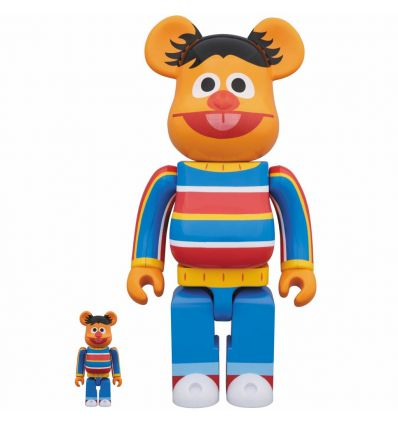 Sculpture 400% & 100% Bearbrick set - Bert (Sesame Street)