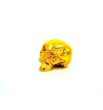Skull Gold Chrome Porcelain by NooN