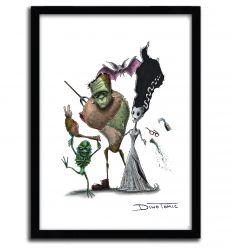 Affiche frankestein Creepyfied par DinoTomic