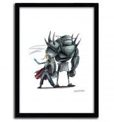 Affiche Fullmetal Alchemist Creepyfied par DinoTomic