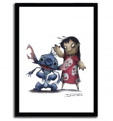 Affiche lilo & stich Creepyfied par DinoTomic