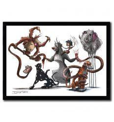 Affiche mowgli Creepyfied par DinoTomic