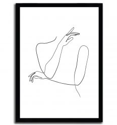 Abstract female hands line by ELINA BLEKTE