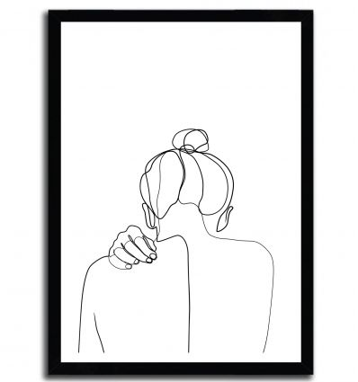 Woman back drawing by ELINA BLEKTE