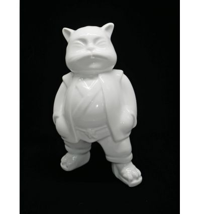 Sculpture UrbanCat Porcelain by Hiro Ando
