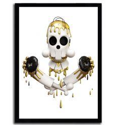 Affiche homer zombie pimpskull par Theodoru
