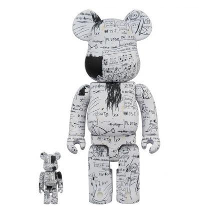 Sculpture bearbrick 400% & 100% set - Jean-Michel Basquiat V3