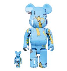Sculpture bearbrick 400% & 100% set - Jean-Michel Basquiat V4