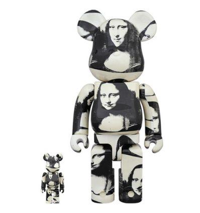 Sculpture bearbrick 400% & 100% set - Keith Haring V4