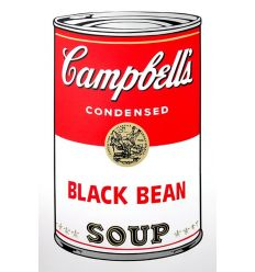 Campbell's Soup Can - Black Bean Art Print by Andy Warhol