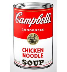 Campbell's Soup Can - Chicken Noodle Art Print by Andy Warhol