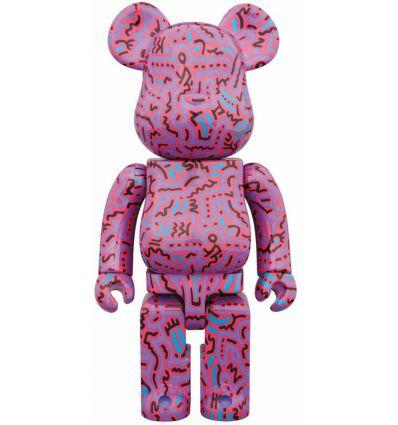 Sculpture bearbrick 400% & 100% set - Keith Haring V2