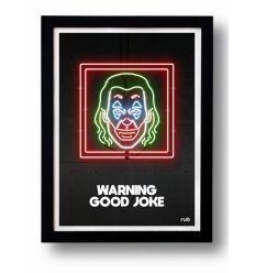 Affiche WARNING GOOD JOKE by RUB