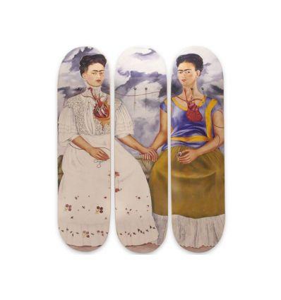 Frida Kahlo Skateboard Deck Triptych – Two Fridas (1939)