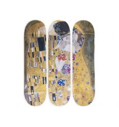 Gustav Klimt Skateboard Triptych – The Kiss (1907-1908)