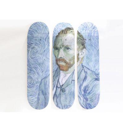 Vincent van Gogh Skateboard Triptych – Self Portrait (1889)