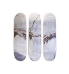 Michelangelo Skateboard Triptych – Creation of Adam (1511-1512)