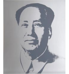 Mao Red Art Print by Andy Warhol