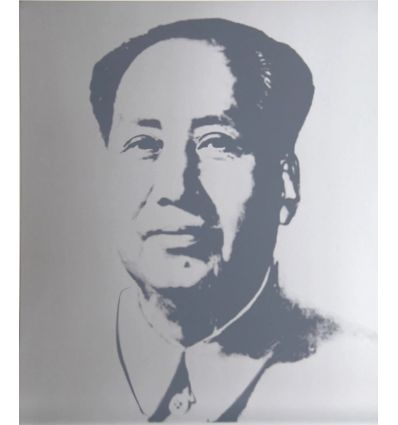 Mao Silver Art Print by Andy Warhol