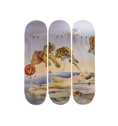 Salvador Dali Triptych Skateboards – Dream Caused by the Flight of a Bee (1944)