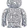 Sculpture bearbrick 1000% set - Keith Haring V4