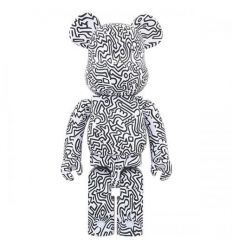 Sculpture Bearbrick 1000% Jean-Michel Basquiat V4
