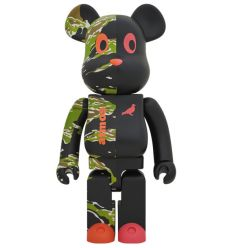 Sculpture bearbrick 400% & 100% Atmos (Scarf)