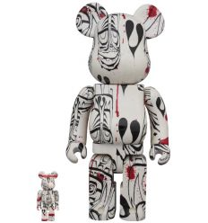 Sculpture Bearbrick set400% & 100% Phil Frost Vers.2019