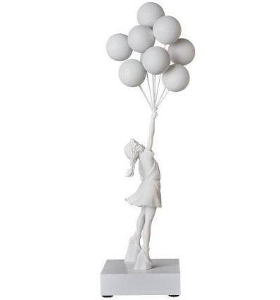 Sculpture Flying Balloons Girl by BANKSY