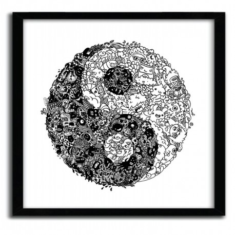 Affiche YinYang Doodle by Lei Melendres