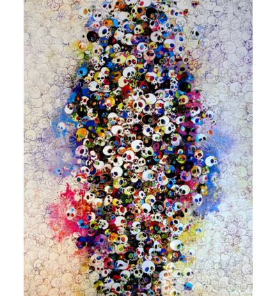 Lithographie And Then x 6, Blue: The Polke Method by TAKASHI MURAKAMI