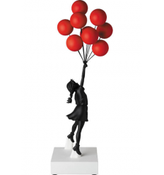 Sculpture Flying Balloons Girl BLACK/RED by BANKSY