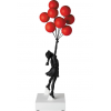 Sculpture Flying Balloons Girl Red by BANKSY