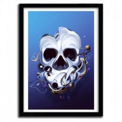 Affiche ORGANIC SKULL by DAVID DELIN