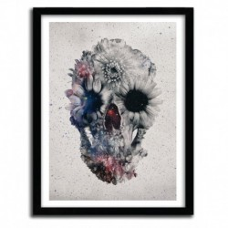 Affiche floral skull 3 by Ali Gulec