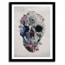 floral skull 3 by Ali Gulec