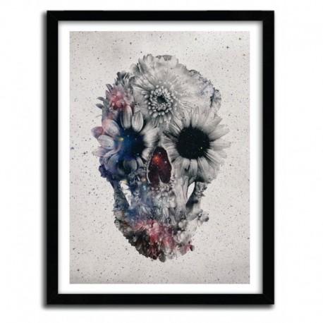 Affiche floral skull 3 by Ali Gulec