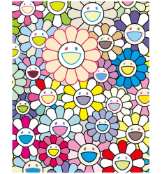 Print FIELD OF FLOWERS by TAKASHI MURAKAMI