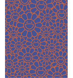Print AUGUST JOY SILKSCREEN (ORANGE/BLUE) by TAKASHI MURAKAMI