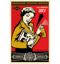Print STAY UP GIRL by SHEPARD FAIREY alias OBEY