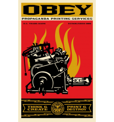 Print PRINT AND DESTROY by SHEPARD FAIREY alias OBEY