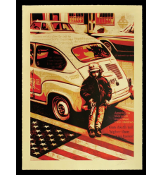Print WORKERS RIGHTS by SHEPARD FAIREY alias OBEY